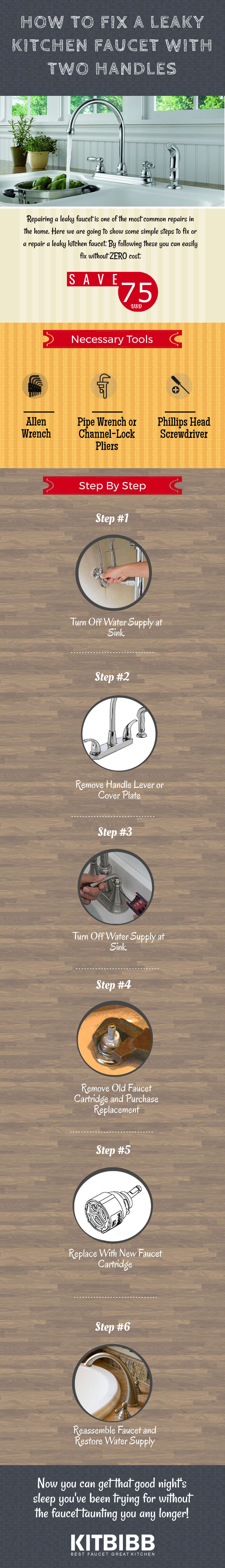 How To Fix A Leaky Kitchen Faucet With Two Handles Step By